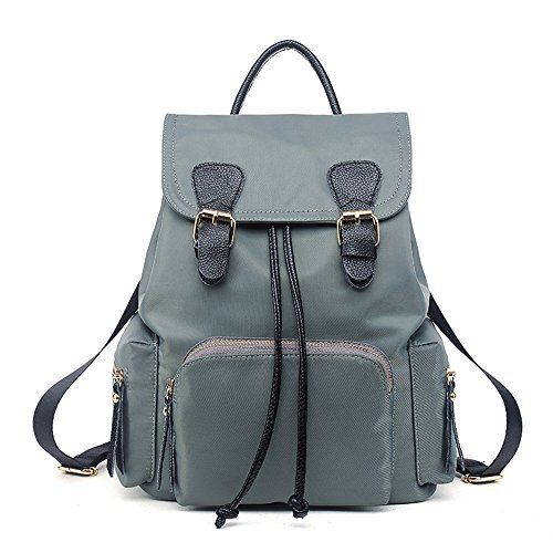 Mochila Paño Oxford mochila bolso mujer bolsos de viaje bolsos de tela Mochilas tipo casual Bolsas De Escuela Azul-gris Bolsos Mochila Azul-gris Bolsos Mochila