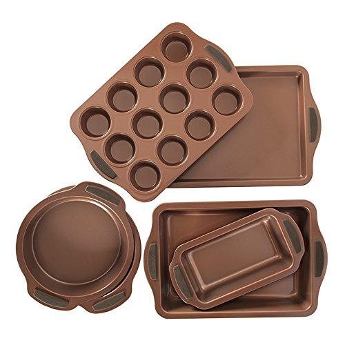 Nordic Ware 12443AMZ Copper 6-Piece Bakeware Set