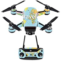 Skin for DJI Spark Mini Drone Combo - Traveler  MightySkins Protective, Durable, and Unique Vinyl Decal wrap cover   Easy To Apply, Remove, and Change Styles   Made in the USA