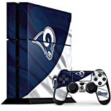 Skinit NFL Los Angeles Rams PS4 Console and Controller Bundle Skin - Los Angeles Rams Flag Design - Ultra Thin, Lightweight Vinyl Decal Protection