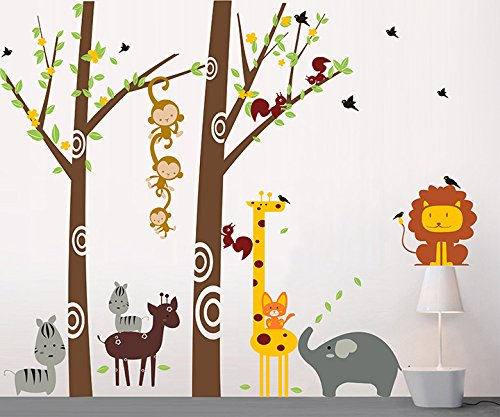 Pop DecorsParty in The Woodland Beautiful Wall Stickers for Kids Rooms PT-0089-Vb