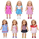 18 inch Doll Clothes Dresses - 7 Outfits American Doll Clothes Accessories Set