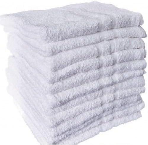 24-Pack White Premium HAND TOWELS 16x27 in 2 dozen 100/% COTTON 3 lb.//doz.