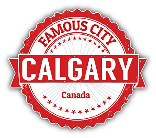 JJH Inc Calgary City Canada Grunge Travel Stamp Vinyl Decal Sticker Waterproof Car Decal Bumper Sticker 5