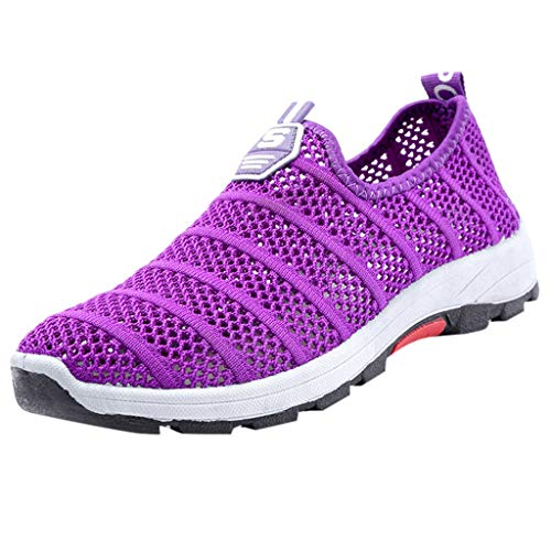 SUNyongsh Unisex Hollow Shoes Woven Mesh Breathable Sneakers Lightweight Soft Non-Slip Sneakers ()