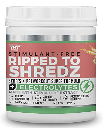 Ripped to Shredz Preworkout Drink for Hardcore Improvement & Performance.Boosts Energy,Motivation,Builds Muscle, Promotes Muscle Recovery,for Men and Women (15 Serving, Fruit Punch)