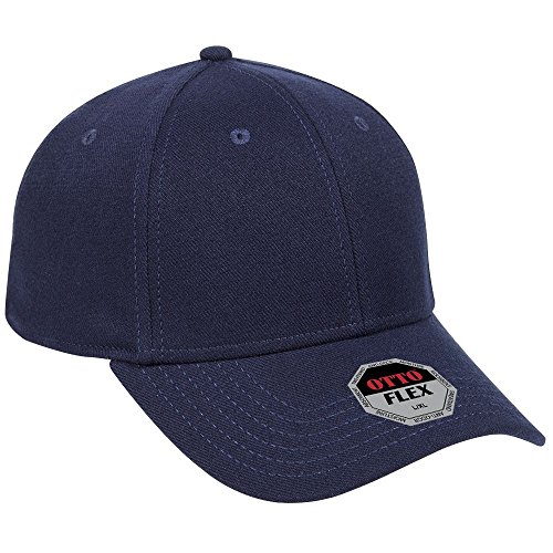 OTTO Flex Stretchable Alternative Wool Twill 6 Panel Low Profile Baseball Cap - Navy