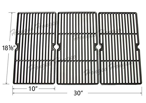 Hongso PCE993 Matte Cast Iron Cooking Grid Replacement for Charbroil 463224912, 463231711, Kenmore 415.16135, 415.16135110 and Cuisinart, Ceramic Grills; aftermarket replacements, Set of 3