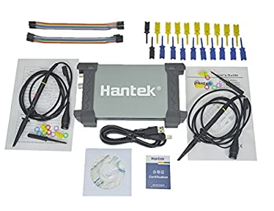 Hantek 6022BL PC Based USB Digital Portable Oscilloscope + 16 CHs Logic Analyzer, 48MS/s Real-time Sampling, 20MHz Bandwidth, FFT