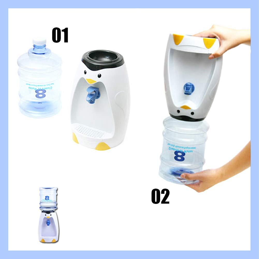 Awayhall Acqua Fredda Monocomponente A 8 Tazze Senza Riscaldamento Dispenser Per Acqua A forma Di Pinguino Mini Distributore Di Acqua Per Cartoni Animati