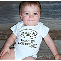 Happy First Mother's Day You're Doing a Great Job Mom Best Mommy Onesie Personalized Puppy Dog Shirt
