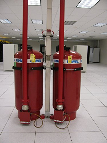 Home Comforts Canvas Print Two FM200 fire Suppression Tanks, Back Stretched Canvas 10 x 14