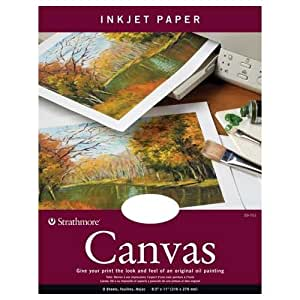 amazon com canvas inkjet paper set of 8