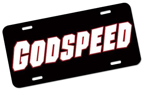 Godspeed license plate