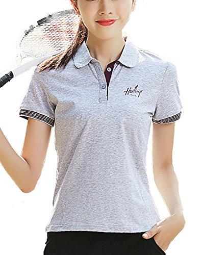 Heaven Days(ヘブンデイズ) ポロシャツ ゴルフシャツ Tシャツ 半袖 無地 ライン レディース 1805E0132