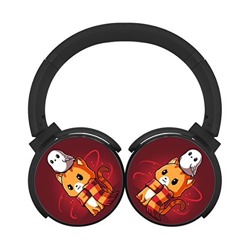 MagicQ New Brave Kitty Bluetooth Headphones,Hi-Fi Stereo Earphones Black (Earphones Headphones Bravo)