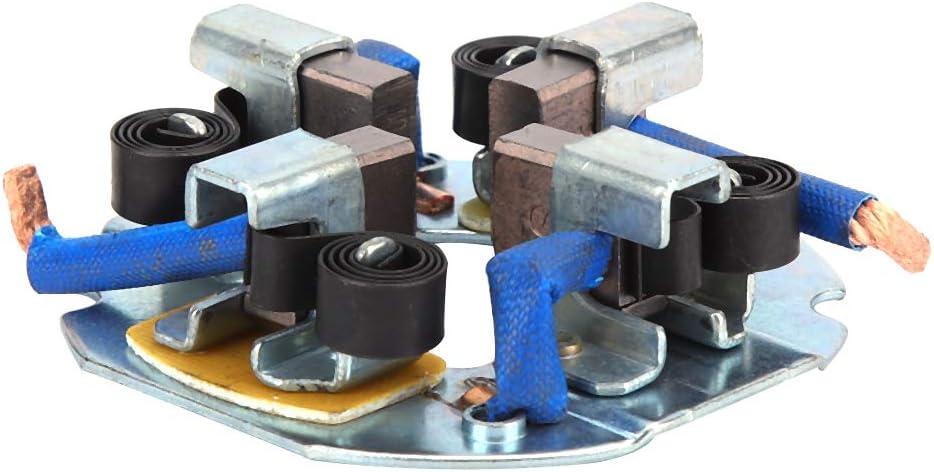 Conjunto de soporte de escobillas de carb/ón para arrancador de veh/ículo apto para veh/ículos agr/ícolas de cuatro cilindros Conjunto de portaescobillas del motor de arranque
