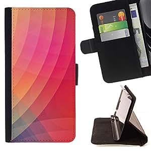 For Samsung Galaxy S4 IV I9500 Case , Wallpaper Líneas rosa melocotón- la tarjeta de Crédito Slots PU Funda de cuero Monedero caso cubierta de piel
