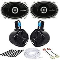 Jeep Wrangler 87-95 YJ Front Speakers+Rollbar/Soundbar Speakers+Install Hardware