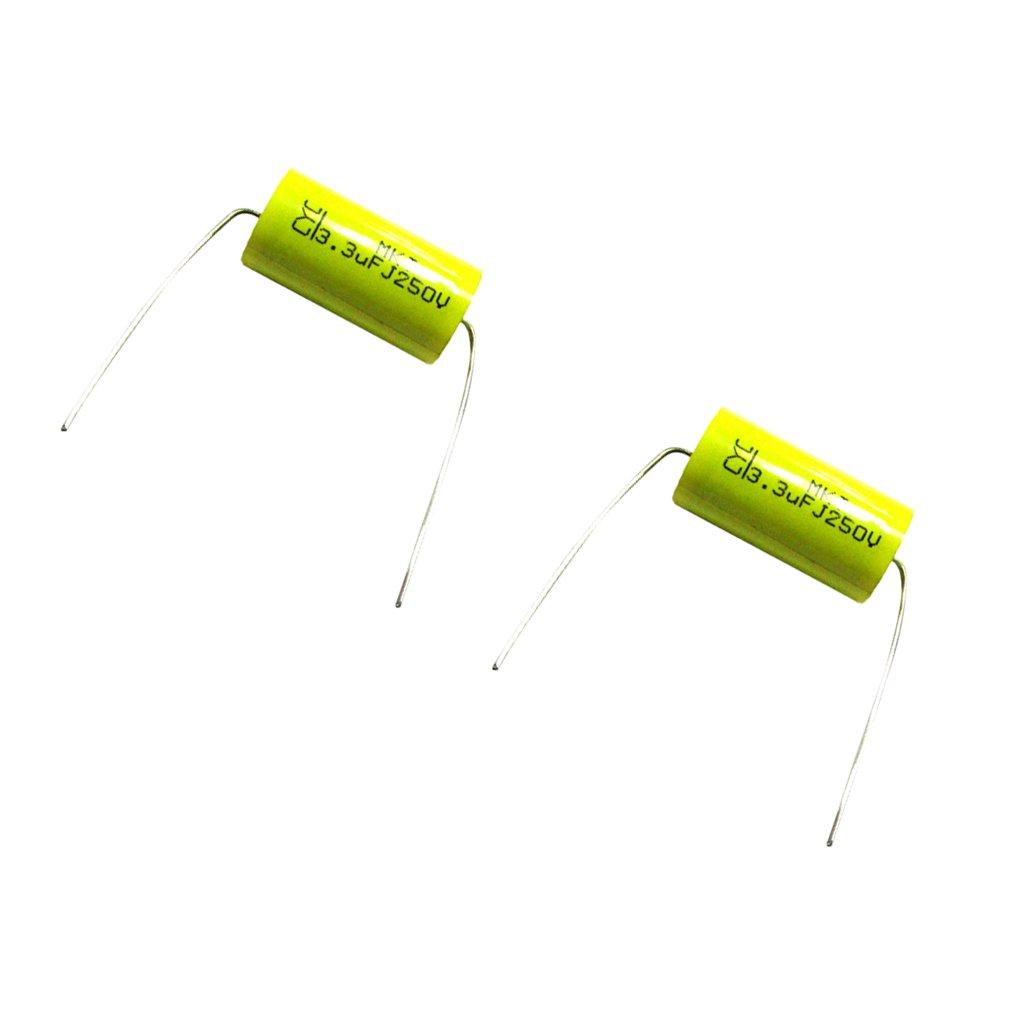 Sharplace Condensador de Polaridad Cruce de Divisor de Altavoz de Audio 2pcs 250v 3,3uf