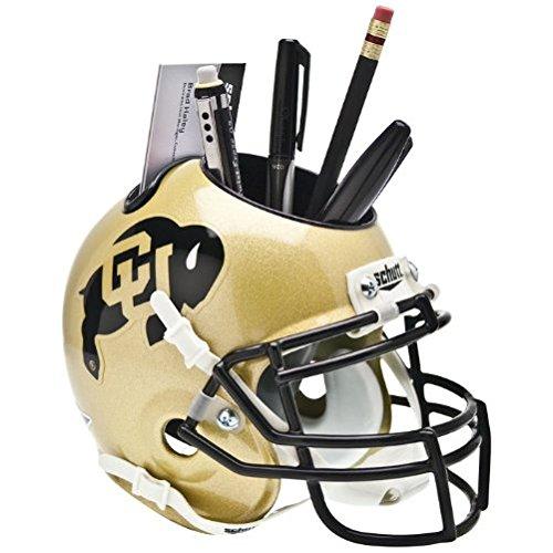 CAA Schutt MINI Football Helmet OFFICE DESK CADDY (Colorado Buffaloes Mini Helmet)