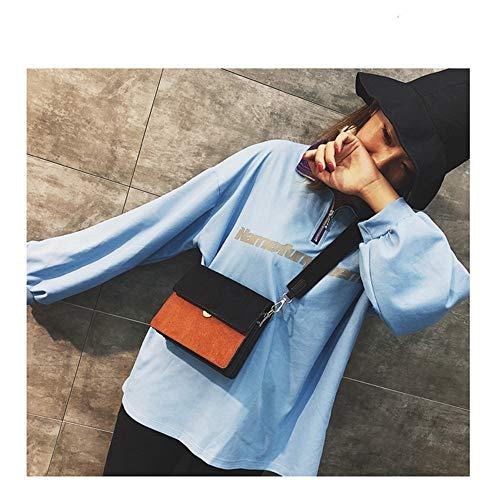 De Elegante Pu Brown Bolsos Para Crossbody Bolso Diseñador Mujeres Black Bolsos color Limeinimukete dHqnpwId