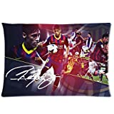 andersonfgytyh Neymar JR #11 Away Barcelona FC Football Soft Pillow case Cover 20*30 Inch (Twin sides)Zippered Pillowcase