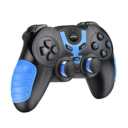 Android Bluetooth Game Controller, BEBONCOOL Bluetooth Gamepad, Wireless Phone Controller For Android Phone / Tablet / Gear VR Controller / Game Boy Emulator (Clip Not Included)