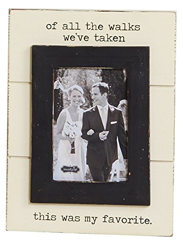(Mud Pie Wedding of All The Walks Picture Frame, of All The)