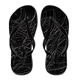 Terenccam Men Seaside Abstract Black Spiders Web Grey Spooky Halloween Sandal 13 B(m) Us