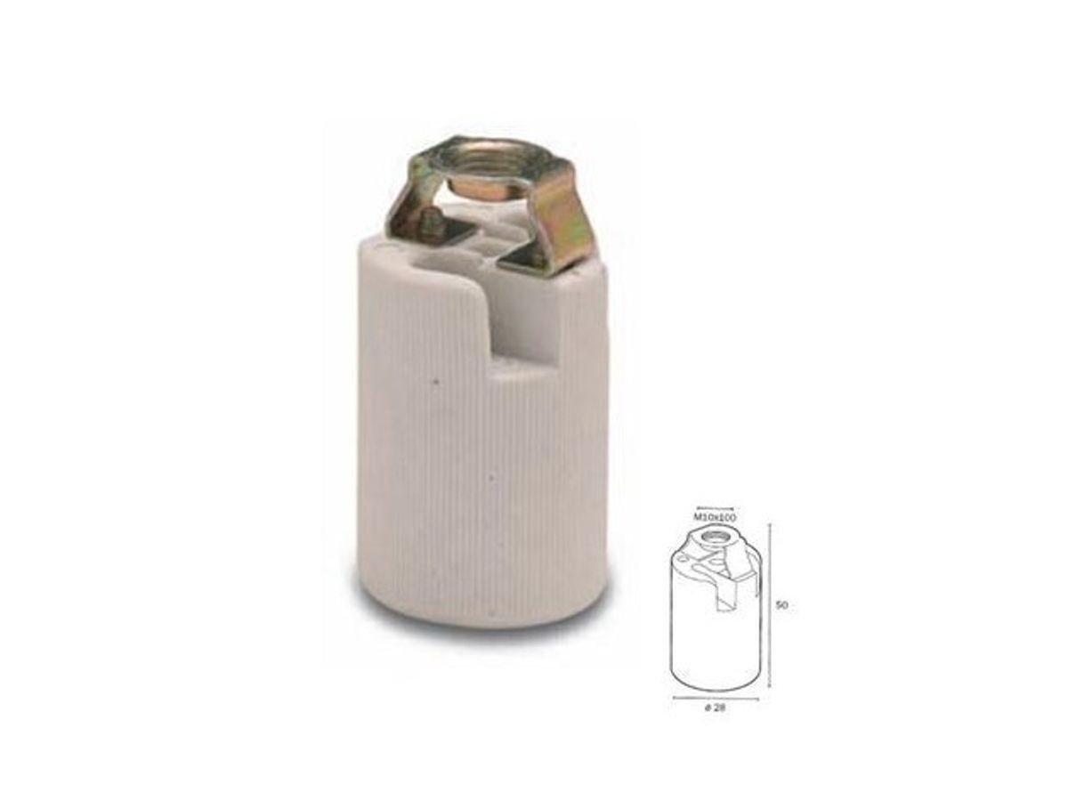 FAI Autoparts Douille E14/en c/éramique porcelaine avec support avec trou filet/é