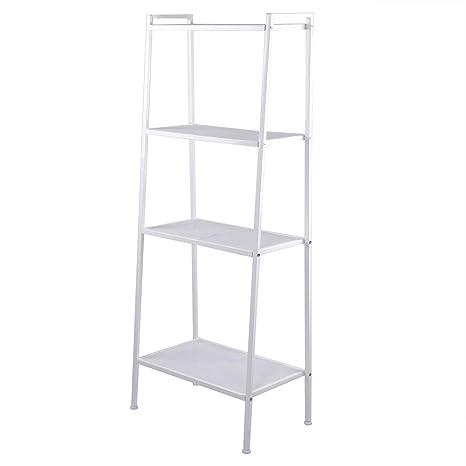 Soogo Widen 4 Tiers Bookshelf Ivory White
