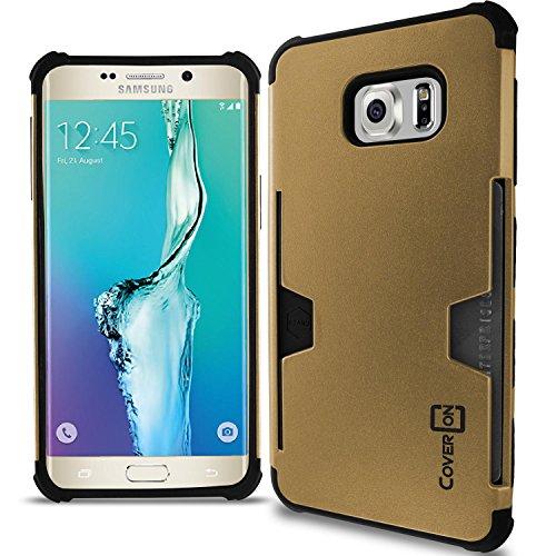 Shockproof Hybrid Case for Samsung Galaxy S6 Edge (Black/Gold) - 8