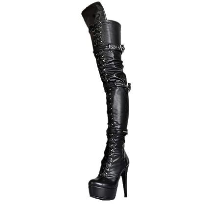 96a54fa69dd YaXuan Women's Fashion Boots, Fall Winter Over-Knee Boots Ultra High Heel  Stiletto Platform