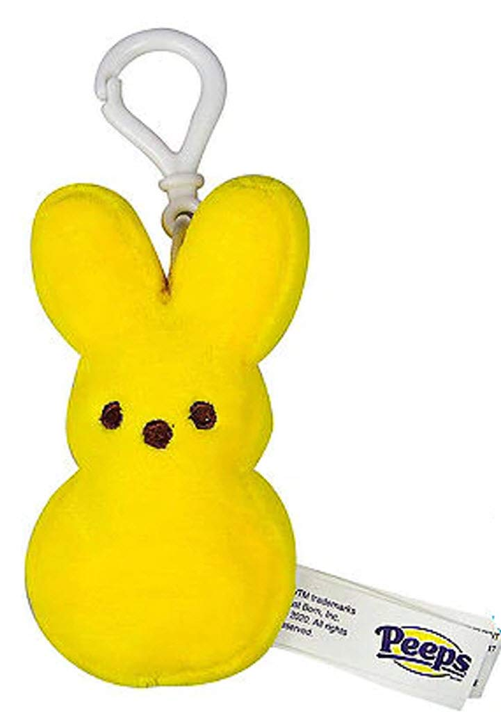 Peeps Bunny Plush Mini with Backpack Clip - Yellow