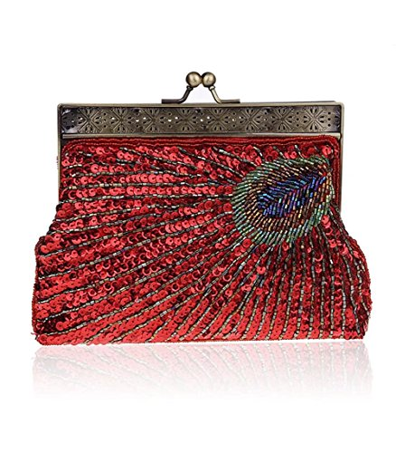 Puluo Red femme pour Pochette rose wqYpXS6