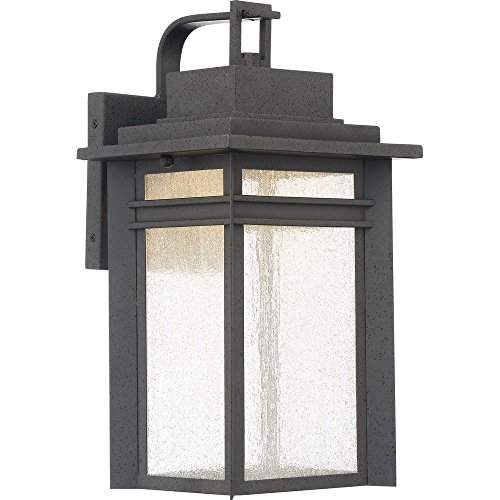 Outdoor Lantern Wall Large Beacon (Quoizel BEC8409SBK Beacon Integrated LED Outdoor Lantern, SBK - Stone Black)