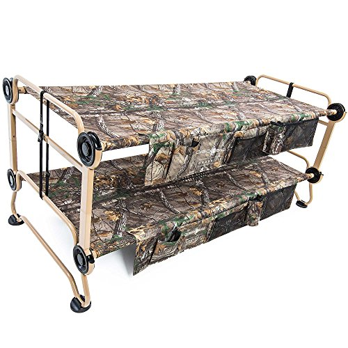Cam-O-Bunk with Realtree XTRA including Organizers, (Camp Bunk Beds Metal)