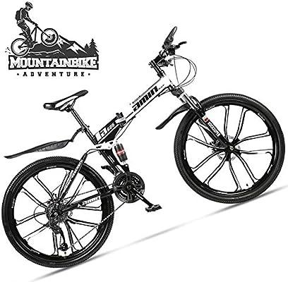 NENGGE Plegable Bicicleta Montaña 26 Pulgadas para Adulto Hombre ...