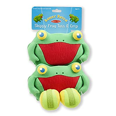 Melissa & Doug Sunny Patch Skippy Frog Toss and Grip Action Game - 2 Mitts, 2 Soft Balls: Toy: Toys & Games
