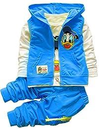 Lemonkids® Unisex Children Fashion Hoodies Vest + Shirt + Pants 3 Pieces Suit