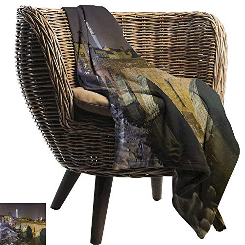 warmfamily Super Soft Blankets Landscape Ponte Pietra on River Adige Ancient Roman Bridge in The Old Town of Verona Italy All Season for Couch or Bed 50
