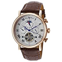 Lucien Piccard Ottoman Silver Dial Automatic Mens Watch 40012A-RG-02S-BRW-W