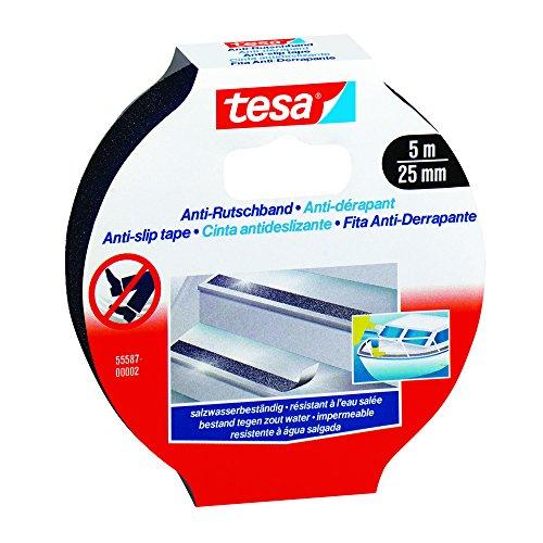 Tesa Anti-Slip Tape – 5m x 25mm, Black