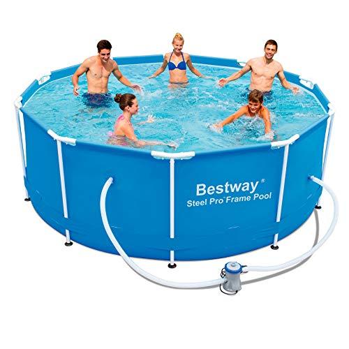 51z99FgP8qL. SS500 Muy estable – La robusta piscina es muy estable e indicada para la diversión en los meses calurosos Montaje sencillo – Esta piscina desmontable tubular es fácil y rápida de instalar y de guardar Agua limpia – Con depuradora de cartucho de 1.249 litros/hora para mantener la piscina limpia  https://www.youtube.com/watch?v=qWrjYkcA3ko bestway steel pro 56334