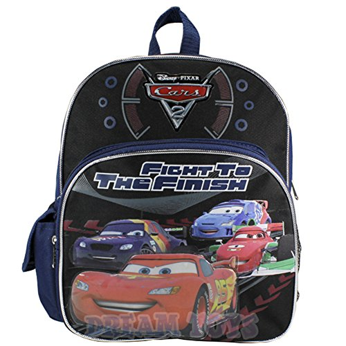 - 12' Disney Pixar Cars Fight to the Finish Backpack - McQueen Book Bag Medium