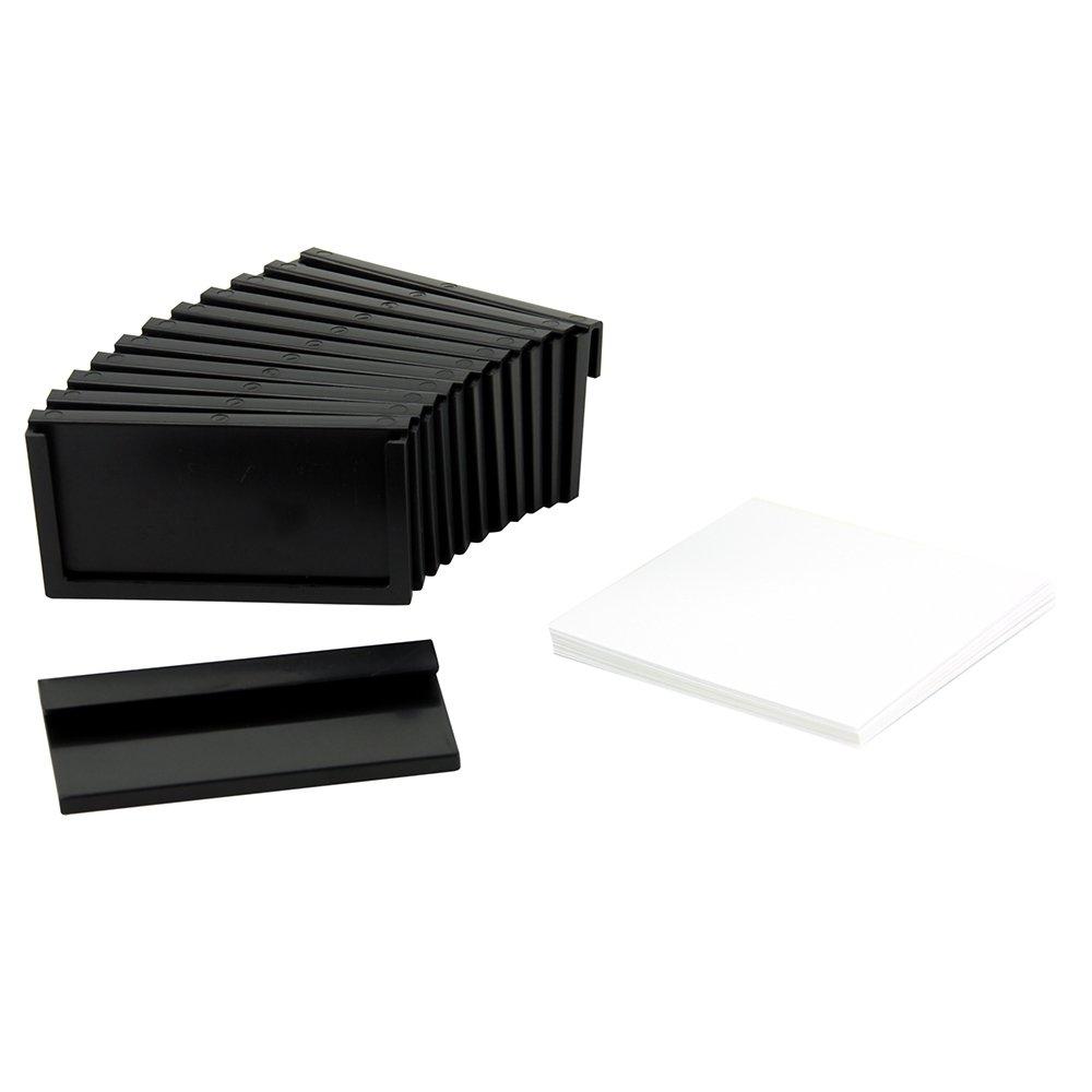 Romanoff Magazine File Slip-on Label Holders 1 3/4'' X 3 1/4'' 12/pkg (Black)