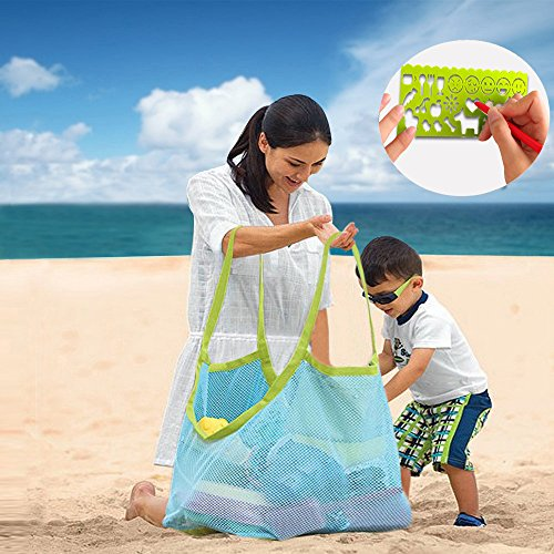 Aurora Gadgets 11 Extra Large Mesh Toy Tote Bag-Kids Backpacks for Shells Towels,Beach Ball,Clothes