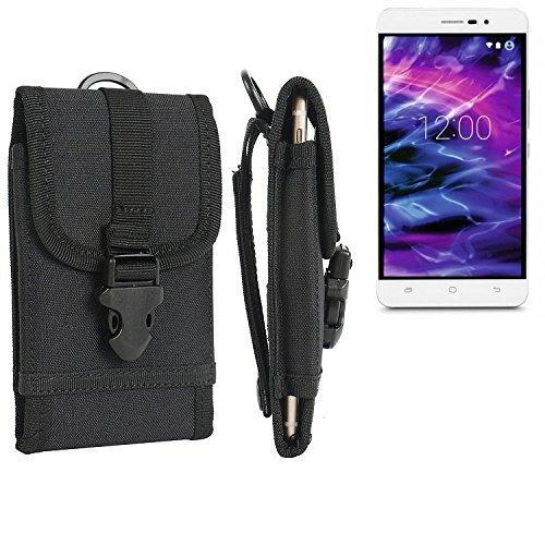 bolsa del cinturón / funda para Medion Life S5504, negro   caja del teléfono cubierta protectora bolso - K-S-Trade (TM)