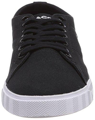 Lacoste MARCEL LCR2 - zapatilla deportiva de lona hombre negro - Schwarz (BLK/BLK 02H)